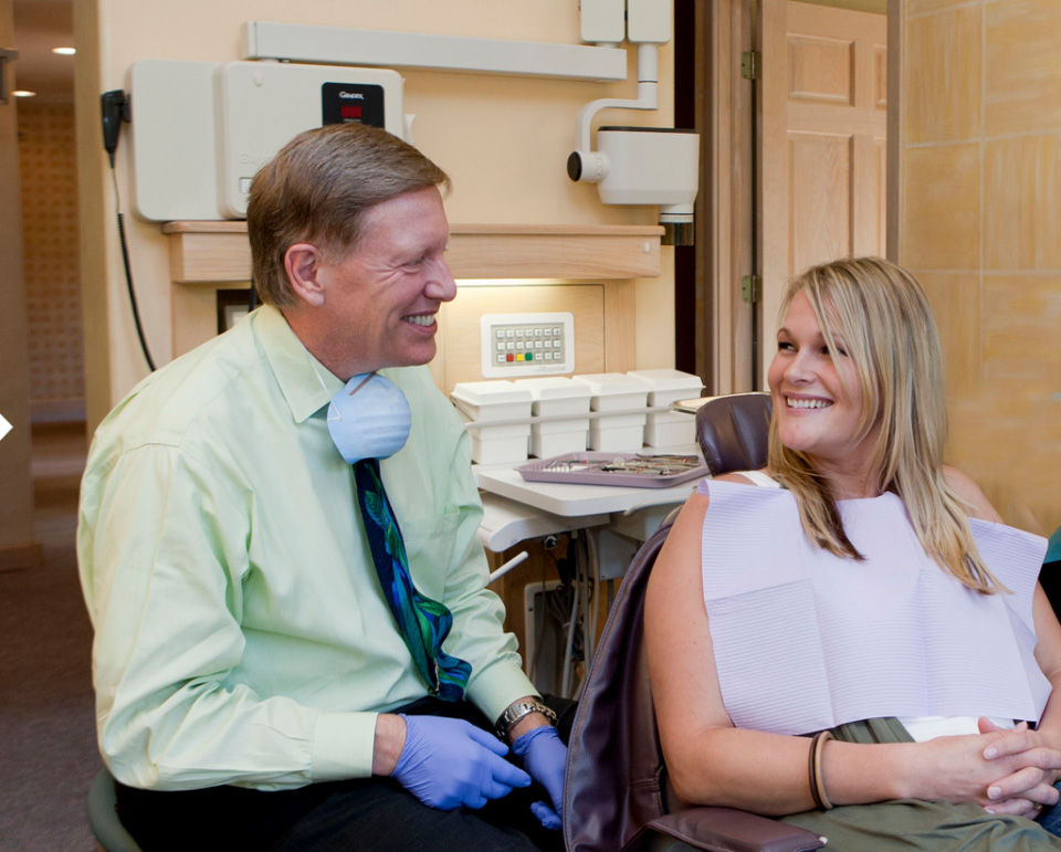 dr kaake and patient smiling